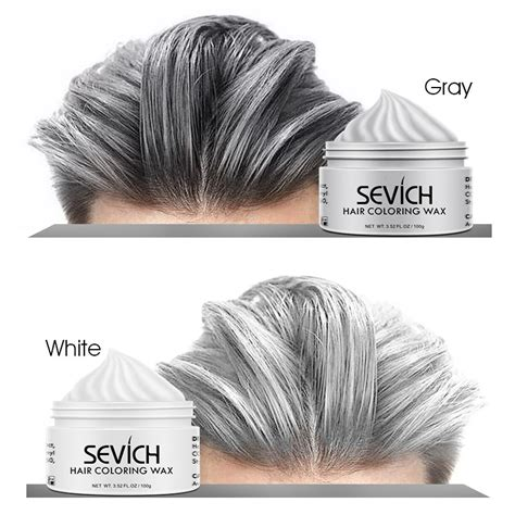 Sevich Hair Color Wax Silver Grey Temporary Hair Dye Men
