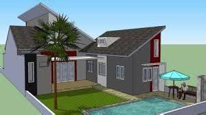 desain terbaru kolam renang  rumah minimalis gambar