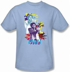 Regular T Shirt Size Chart Miami Vice T Shirt Tubbs Freeze Light Blue Tee Shirt