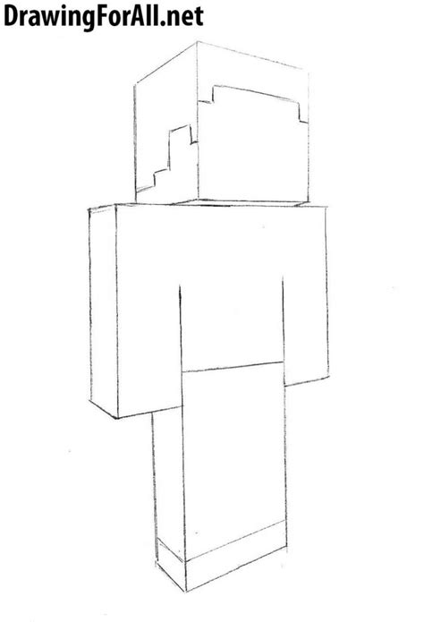 draw steve  minecraft drawingforallnet