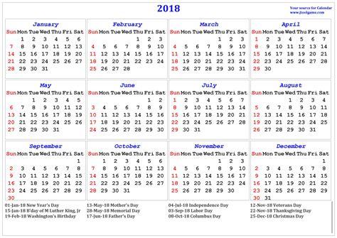 2018 word calendar free 2018 usa printable calendars with holidays printable templates letter calendar word excel