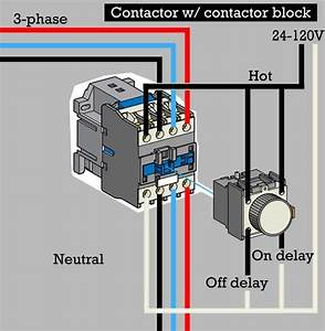 How To Wire Contactor Block Delay Timer        Waterheatertimer Org  How