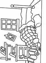 Coloring Pages Bedroom Mr Bed Messy Printable Furniture Getcolorings Litltle Miss Colori Template Preschool sketch template