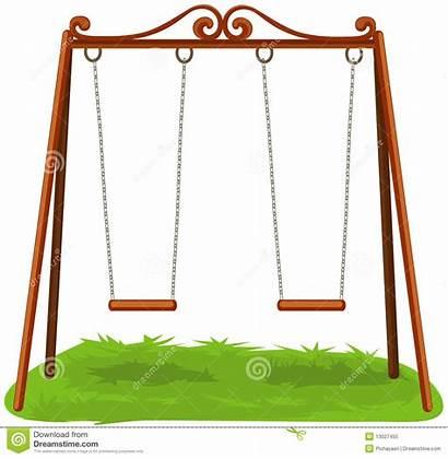 Swings Clipart Swing Illustration Cartoon Empty Background