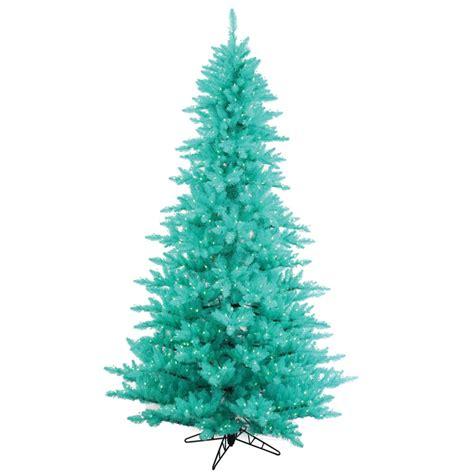 7 5 foot artificial aqua fir tree blue pre lit