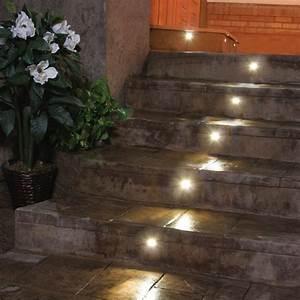 Outdoor led recessed stair light kit pack dekor? lighting