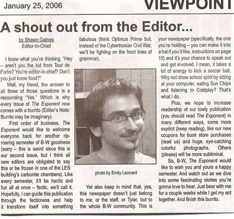 letter   editor includes  humor