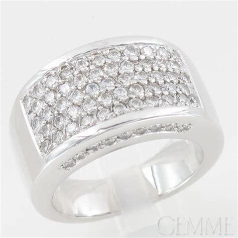 bague bandeau or blanc diamants taille moderne