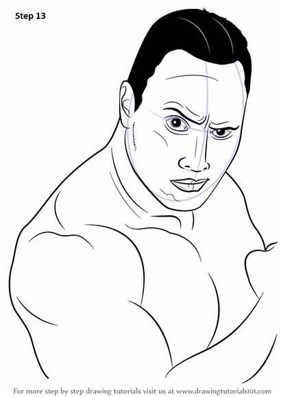 Rock Dwayne Johnson Draw Step Drawing Rocks