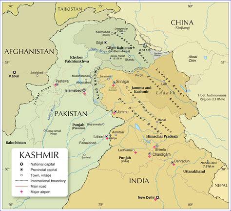 political map  kashmir region nations  project