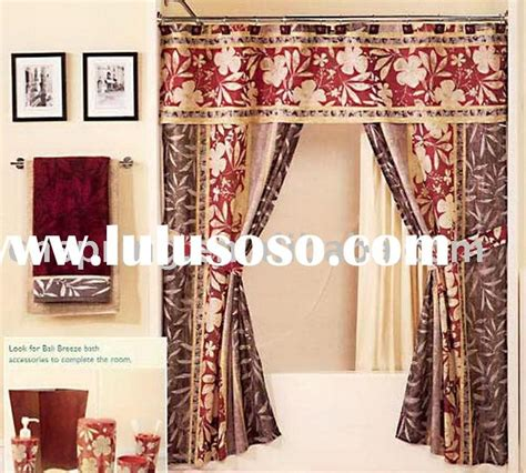 two panel swag shower curtains with valance superb