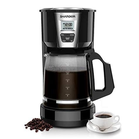 The best coffee maker for 2020. SHARDOR Drip Coffee Maker, 12 Cup Programmable Brew Coffee Machine 3.0, Automatic Start and Shut ...