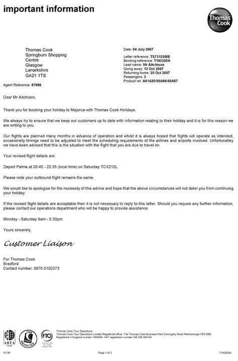 Sample Gallery Detail: Thomas Cook Errata Letter | Pitney
