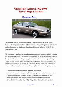 Free Online Car Repair Manuals Download 1992 Oldsmobile