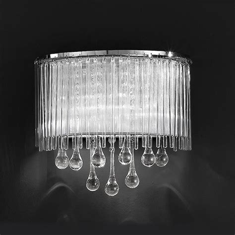 wall light crystal drops franklite fl2161 2 spirit wall light with crystal drops