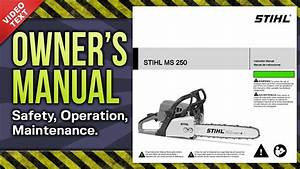 Owner U0026 39 S Manual  Stihl Ms 250 Chain Saw