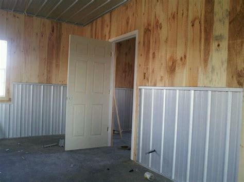 Metal Wainscoting Ideas by Ship Pine Galvalume Metal Wainscot My Crafty