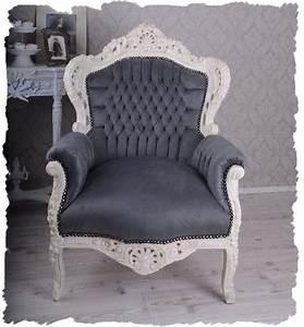 Sessel Weiß Grau : sessel weiss grau schnitzereien stuhl in salez kaufen bei ~ Frokenaadalensverden.com Haus und Dekorationen