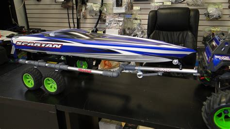Traxxas Rc Boat Trailer by Sold Traxxas Spartan And Trailer Brand New For Sale