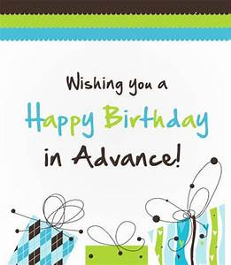Advance Wishes - Wishes, Greetings, Pictures – Wish Guy