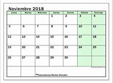 Calendarios noviembre 2018 LD