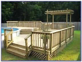24 round above ground pool deck plans decks home