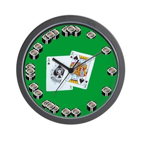 Poker Chip Wall Clock By 1allin