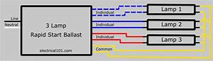 Fluorescent Ballast Wiring Diagram 3 Wire