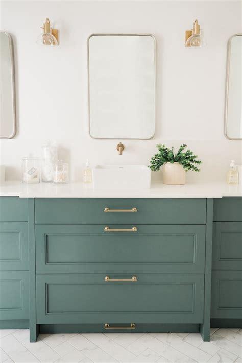 bathroom vanity cabinet color trends   hunker