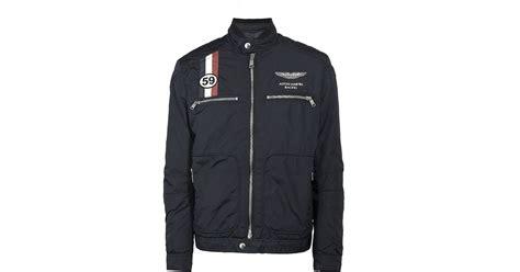 hackett aston martin racing gb moto jacket  blue  men