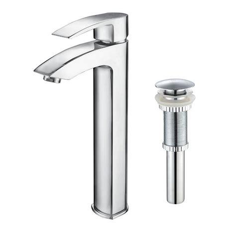 kraus visio single hole single handle vessel bathroom