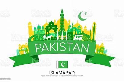 Pakistan Landmarks Illustration Travel Vector Punjab Vectors