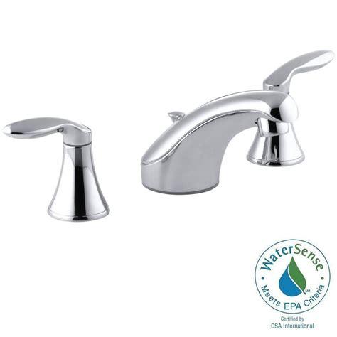kohler coralais 8 in widespread 2 handle low arc bathroom