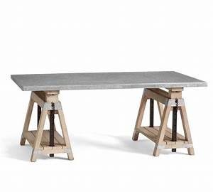 jackson galvanised sawhorse coffee table desk pottery With sawhorse coffee table
