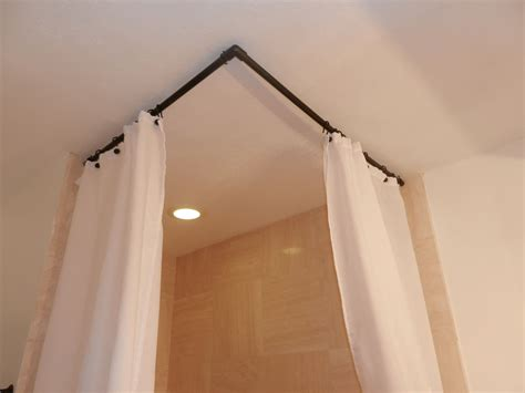 90 degree curved shower curtain rod bathroom pinterest