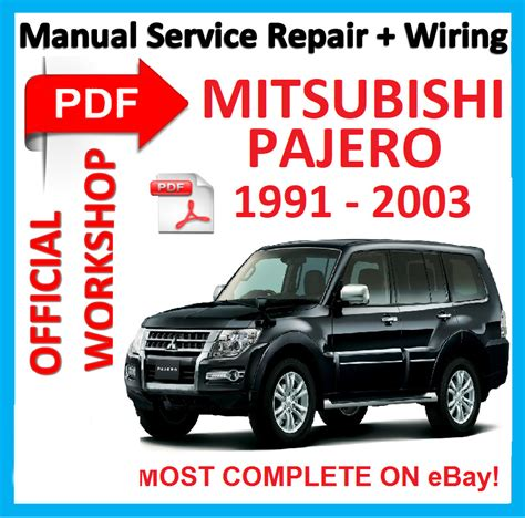 how to download repair manuals 1991 mitsubishi pajero electronic toll collection official workshop manual service repair for mitsubishi pajero 1991 2003 ebay
