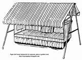 Hanging Paper Hammocks Patios Doll Coloring Porch Front Sunrooms sketch template