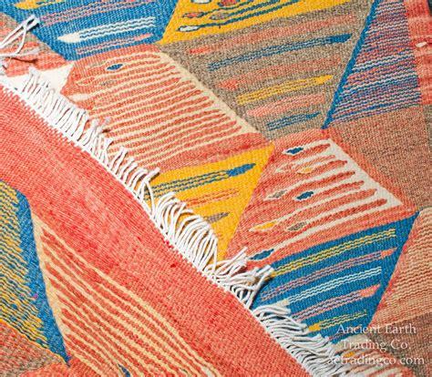 Colorful Throw Rugs by Colorful Runner Zanafi Tribal Reversible Wool Flatweave