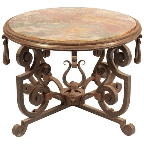 iron coffee table deco wrought iron coffee table for at 1stdibs 1926