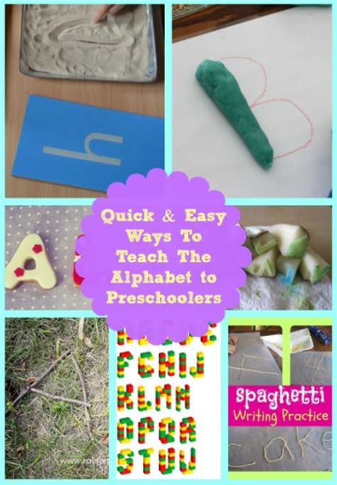 amp easy ways to teach preschoolers the alphabet 958 | Quick Easy Ways To Teach Preschoolers The Alphabet collage mums lounge