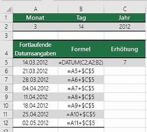 Excel Datum Berechnen Tage Addieren : datum funktion office support ~ Themetempest.com Abrechnung