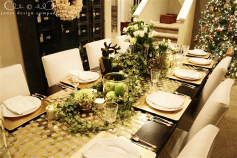 tips for decorating your christmas table jones design