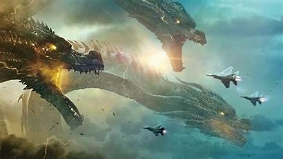 Ghidorah King Godzilla Monsters 4k Wallpapers Monitor