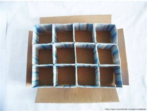 diy cardboard storage box  dividers