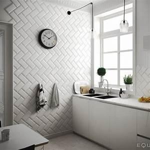 Carreau Metro Blanc : carreau metro 10x20 white blanc brillant ~ Melissatoandfro.com Idées de Décoration