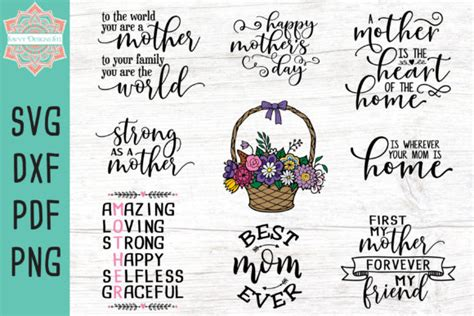 You can use our files with following softwares: Mother's Day Bundle - Free SVG Cut File For Cricut
