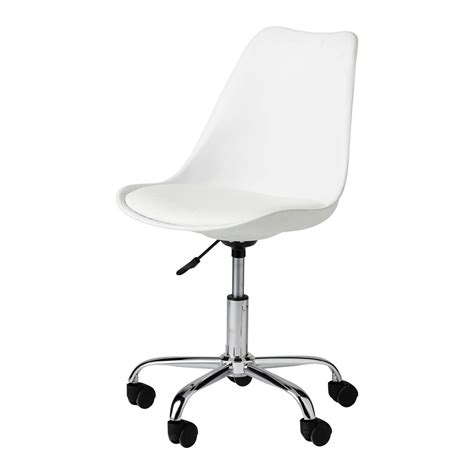 chaise de bureau design blanche chaise de bureau blanche bristol maisons du monde
