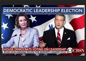 Democratic Leadership Vote Results   Nancy Pelosi   Tim Ryan