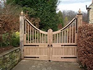 Wooden Driveway Gate Designs — Unique Hardscape Design