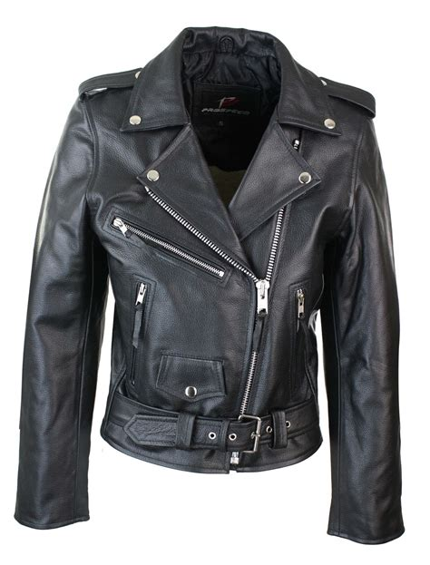 classic leather motorcycle jackets ladies women classic brando biker motorcycle motorbike